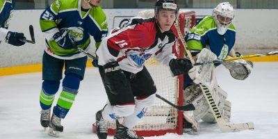 """Optibet hokeja līgas regulārā čempionāta spēle starp """"Mogo"""" un """"Zemgale/LLU"""" 2018. gada 10. janvārī Mogo ledus hallē Rīgā."""