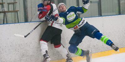 """Optibet hokeja līgas izslēgšanas spēļu kārtas pusfināla pirmā spēle starp HK """"Mogo"""" un HK """"Zemgale/LLU"""" Mogo ledus hallē, Rīgā, 2018. gada 24. februārī. Adeļsons"""