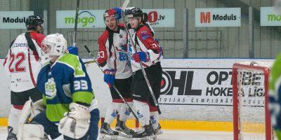 """Optibet hokeja līgas izslēgšanas spēļu kārtas pusfināla pirmā spēle starp HK """"Mogo"""" un HK """"Zemgale/LLU"""" Mogo ledus hallē, Rīgā, 2018. gada 24. februārī. Rybchik"""