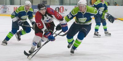 """Optibet hokeja līgas izslēgšanas spēļu kārtas pusfināla pirmā spēle starp HK """"Mogo"""" un HK """"Zemgale/LLU"""" Mogo ledus hallē, Rīgā, 2018. gada 24. februārī. Kostjuks"""