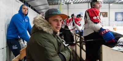"""Optibet hokeja līgas izslēgšanas spēļu kārtas pusfināla pirmā spēle starp HK """"Mogo"""" un HK """"Zemgale/LLU"""" Mogo ledus hallē, Rīgā, 2018. gada 24. februārī. Ozollapa"""