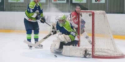 """Optibet hokeja līgas izslēgšanas kārtas otrā spēle starp """"Mogo"""" un """"Zemgale/LLU"""", Mogo ledus hallē, Rīgā, 2018. gada 25. februārī. Bernhards"""