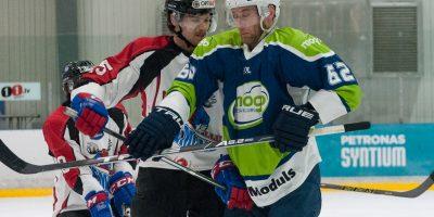 """Optibet hokeja līgas izslēgšanas kārtas otrā spēle starp """"Mogo"""" un """"Zemgale/LLU"""", Mogo ledus hallē, Rīgā, 2018. gada 25. februārī. Rancevs"""