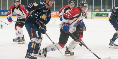 """Optibet hokeja līgas fināla izslēgšanas kārtas pirmā spēle starp HK """"Kurbads"""" un HK """"Zemgale/LLU"""", Rīgā, Kurbads ledus hallē, 2018. gada 12. martā."""
