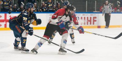 """Optibet hokeja līgas fināla izslēgšanas kārtas otrā spēlē starp HK """"Kurbads"""" un HK """"Zemgale/LLU"""", Rīgā, Kurbads ledus hallē, 2018. gada 13. martā."""