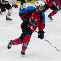 """Jaunatnes attīstības hokeja līgas spēle starp """"Zemgale Juniors"""" un """"HSR 2002"""" Jelgavas ledus hallē 2018. gada 23. septembrī."""