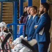 """Optibet hokeja līgas atklāšana Jelgava ledus hallē ar pirmo mājas spēlei, kurā """"Zemgale/LLU"""" tikās ar HK """"Liepāja"""" 2018. gada 15. septembrī."""