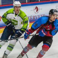 """Optibet hokeja līgas spēle starp """"Zemgale/LLU"""" un HK """"Mogo"""" 2018. gada 22. septembrī."""