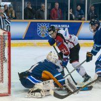 """Optibet hokeja līgas regulārā čempionāta spēle starp HS """"Rīga"""" un HK """"Zemgale/LLU"""" hokeja hallē """"Rīga"""", 2018. gada 20. oktobrī."""