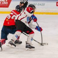 """Optibet hokeja līgas regulārā čempionāta spēle starp HK """"Prizma"""" un HK """"Zemgale/LLU"""", Volvo SC ledus hallē, Rīga, 2018. gada 23. oktobrī."""