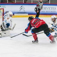 "Optibet hokeja līgas spēle starp HK ""Zemgale/LLU"" un HS ""Rīga"" Jelgavas ledus hallē 2018. gada 03. oktobrī."